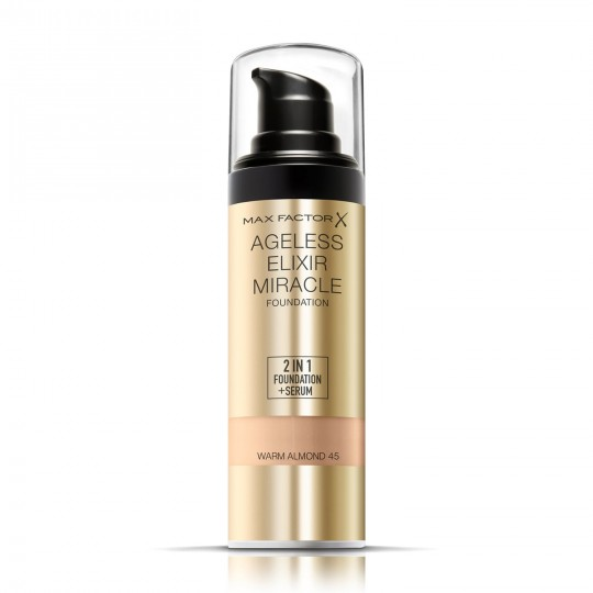 Max Factor Ageless Elixir Miracle 2-in-1 Foundation + Serum - 45 Warm Almond