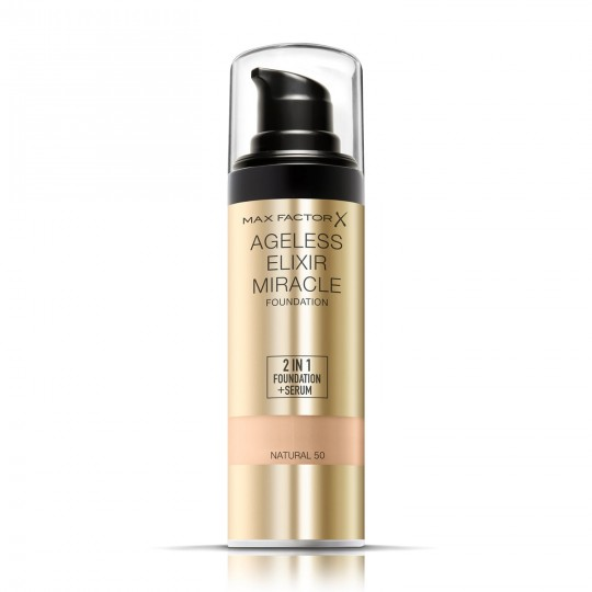 Max Factor Ageless Elixir Miracle 2-in-1 Foundation + Serum - 50 Natural
