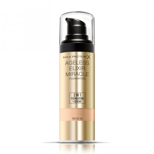 Max Factor Ageless Elixir Miracle 2-in-1 Foundation + Serum - 55 Beige