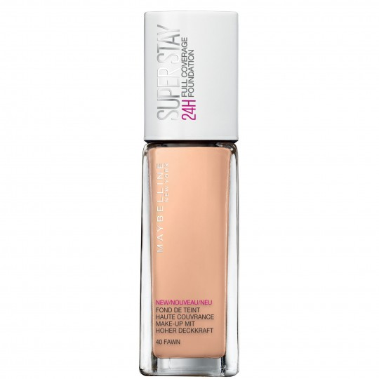 Maybelline SuperStay 24H Full Coverage Foundation - 40 Fawn