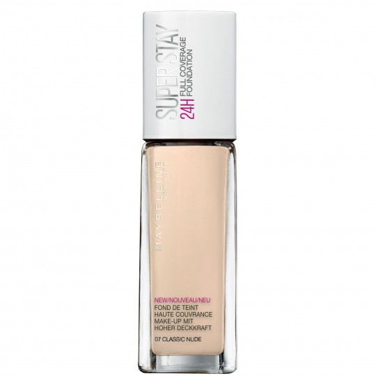 Maybelline SuperStay 24H Full Coverage Foundation - 07 Classic Nude