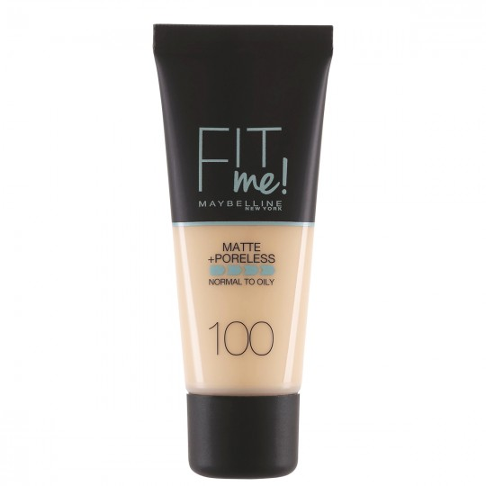 Maybelline Fit Me Matte + Poreless Foundation - 100 Warm Ivory