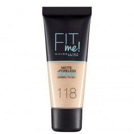 Maybelline Fit Me Matte + Poreless Foundation - 118 Nude