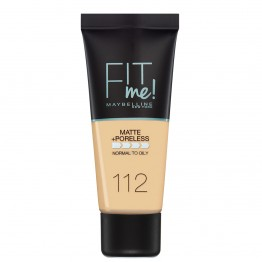 Maybelline Fit Me Matte + Poreless Foundation - 112 Soft Beige
