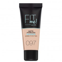 Maybelline Fit Me Matte + Poreless Foundation - 097 Natural Porcelain