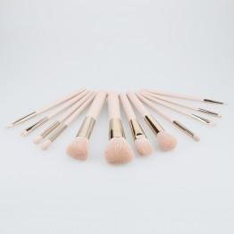 MIMO 12Pcs Makeup Brush Set - Light Pink