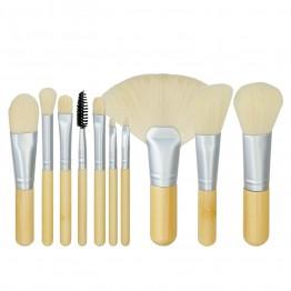 MIMO 10Pcs Bamboo Makeup Mini Brush Set