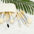 MIMO 10Pcs Bamboo Makeup Mini Brush Set