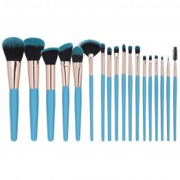 MIMO 18Pcs Makeup Brush Set - Blue