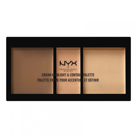 NYX Cream Highlight & Contour Palette - Medium