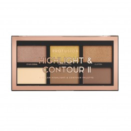 Profusion 6 Colour Highlight & Contour Palette - Highlight & Contour II