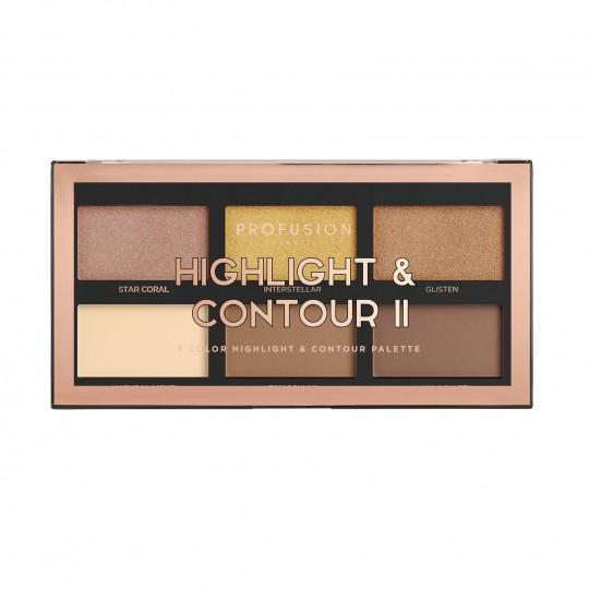 Profusion 6 Colour Highlight & Contour Palette - Highlight & Contour II
