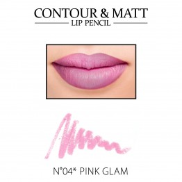 Revers Contour & Matt Lip Pencil - 04 Pink Glam