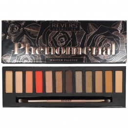 Revers Phenomenal 12 Colour Eyeshadow Palette - 01 Black