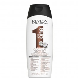Revlon UniqOne Hair & Scalp Conditioning Shampoo - Coconut (300ml)