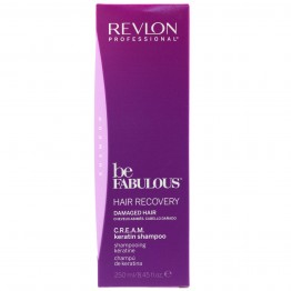 Revlon Be Fabulous Hair Recovery Cream Keratin Shampoo for Damaged Hair (250ml)