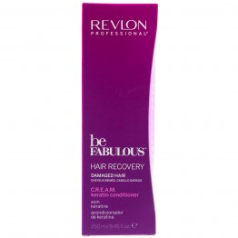Revlon Be Fabulous Hair Recovery Cream Keratin Conditioner for Damaged Hair (250ml)