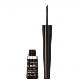 Rimmel Exaggerate Liquid Eye Liner -  001 100% Black
