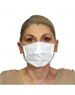 Μάσκα Υφασμάτινη Δύο Στρώσεων Πολλαπλών Χρήσεων Λευκή (100% Βαμβάκι, Unisex, Ελληνικό Προϊόν) 1τμχ