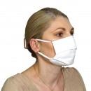 Μάσκα Υφασμάτινη Δύο Στρώσεων Πολλαπλών Χρήσεων Λευκή (100% Βαμβάκι, Unisex, Ελληνικό Προϊόν) 5τμχ
