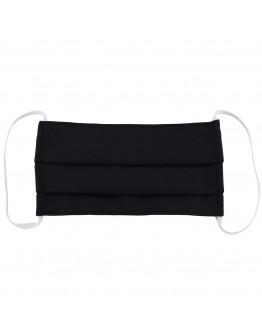 Μάσκα Υφασμάτινη Δύο Στρώσεων Πολλαπλών Χρήσεων Μαύρη (100% Βαμβάκι, Unisex, Ελληνικό Προϊόν) 1τμχ