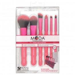 Royal & Langnickel MODA Total Face 7pc Brush Kit - Pink