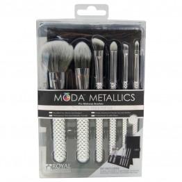 Royal & Langnickel MODA Metallics 7pc Total Face Kit - Silver