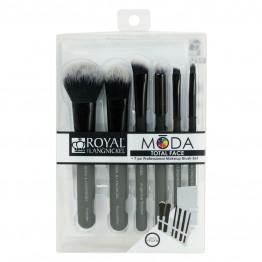 Royal & Langnickel MODA Total Face 7pc Brush Kit - Black