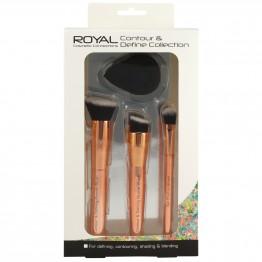 Royal Contour & Define Collection 4 Piece Brush + Sponge Set