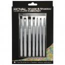 Royal Shade & Shadow Collection 7 Piece Makeup Brush Set