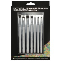 Royal Shade & Shadow Collection 7 Piece Makeup Brush Set