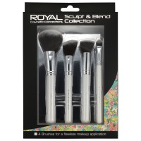 Royal Sculpt & Blend Collection 4 Piece Makeup Brush Set
