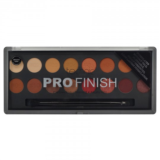 Technic Pro Finish Eyeshadow Palette - Molten Lava Edition