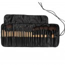 Tools For Beauty 24Pcs Makeup Brush Set with Pouch - Wooden Black