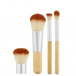 Tools For Beauty 4Pcs Bamboo Makeup Mini Brush Set