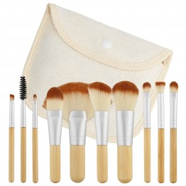 Tools For Beauty 10Pcs Bamboo Makeup Mini Brush Set