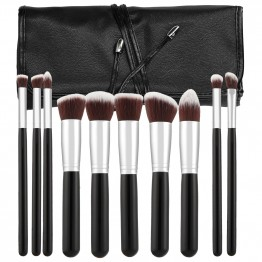 Tools For Beauty 10Pcs Kabuki Makeup Brush Set - Black