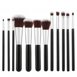 Tools For Beauty 12Pcs Kabuki Makeup Brush Set - Black