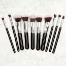Tools For Beauty 12Pcs Kabuki Makeup Brush Set - Black