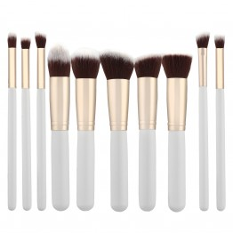 Tools For Beauty 10Pcs Kabuki Makeup Brush Set - White