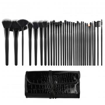 Επιθυμητό Σύγκριση Γρήγορη Προβολή. Tools For Beauty 32Pcs Makeup Brush Set  with Pouch - Black ... 2a4cd98d1db