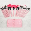 Tools For Beauty 24Pcs Makeup Brush Set with Pouch - Pink Black