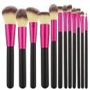 Tools For Beauty 12Pcs Makeup Brush Set - Black & Pink