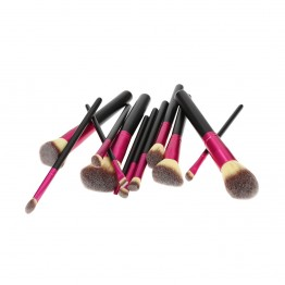 Tools For Beauty 12Pcs Brush Set - Black & Pink
