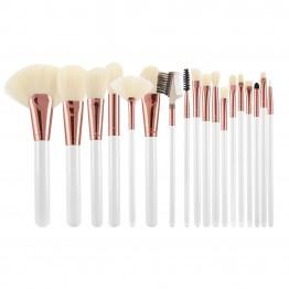Tools For Beauty 18Pcs Makeup Brush Set - White & Rose Gold