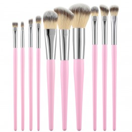 Tools For Beauty 10Pcs Brush Set - Pink