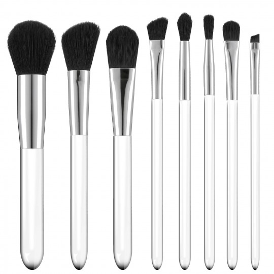 Tools For Beauty 8Pcs Transparent Handle Brush Set