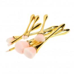 Tools For Beauty 8Pcs Golden Handle Makeup Brush Set