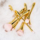 Tools For Beauty 8Pcs Golden Handle Makeup Brush Set