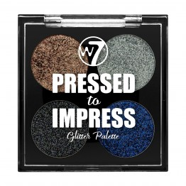 W7 Pressed to Impress Glitter Eyeshadow Palette - Style Icon